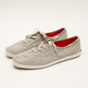 Keds Gray Jersey Lace Up Shoes